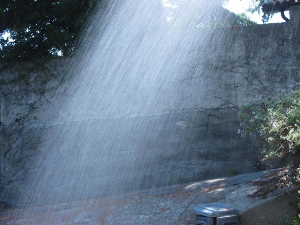 una doccia di campagna